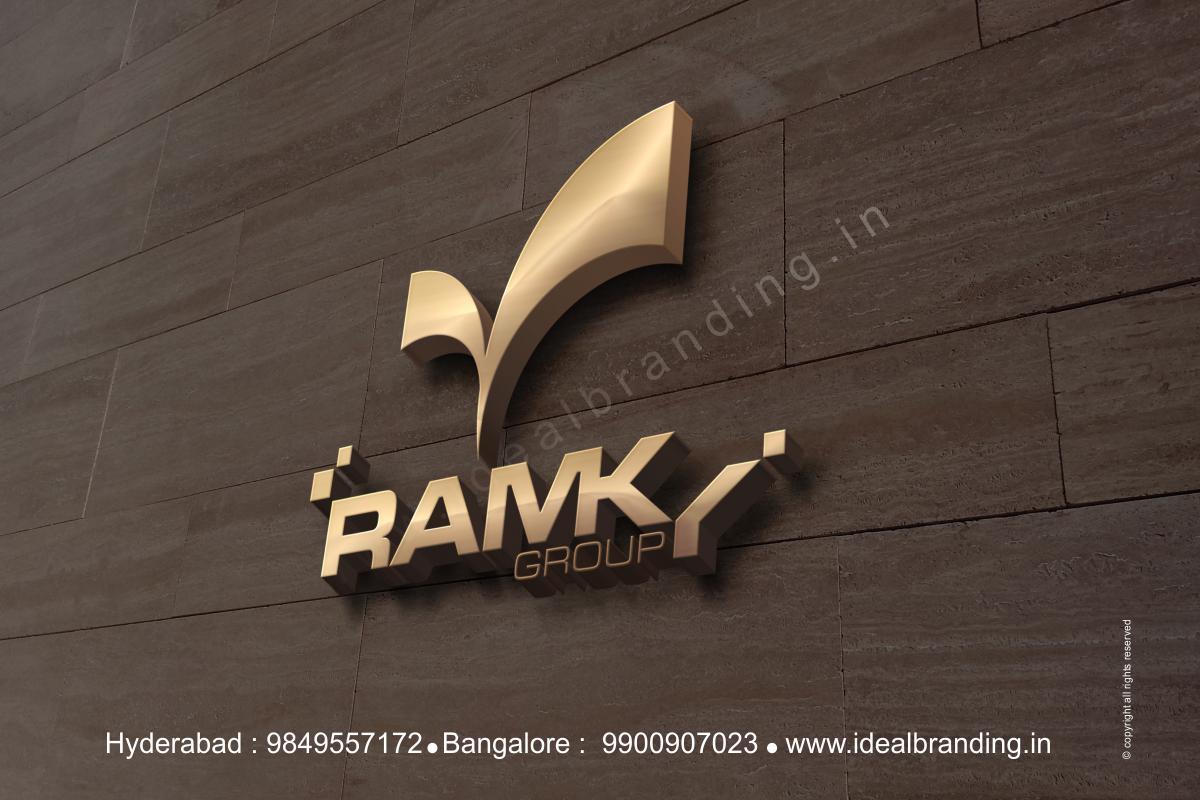 ramky group branding, infra company branding, logo design hyderbad construction branding india - Ramky