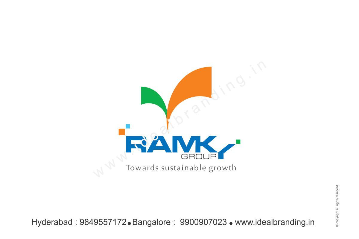 ramky group infra company branding, startup branding logo design hyderbad construction branding india - Ramky, corporate company branding