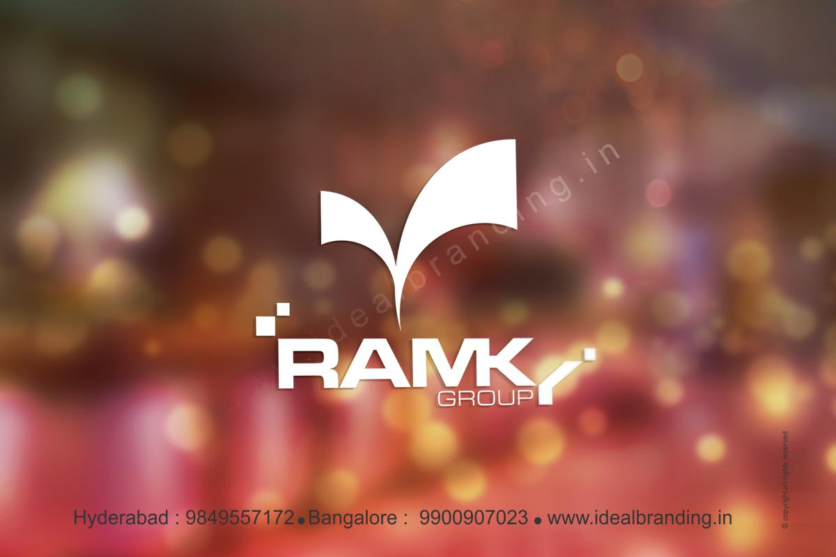 ramky group infra logo design hyderbad construction branding india