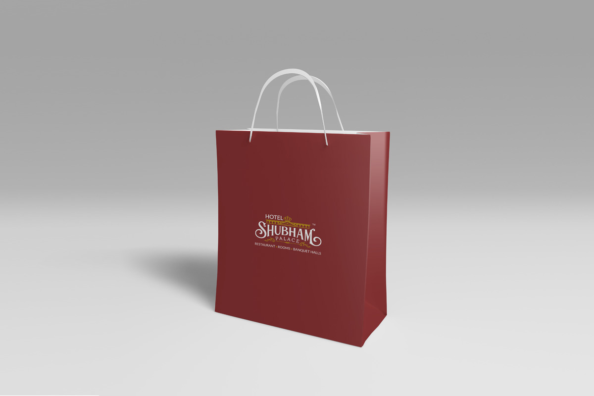 bag designs hyderabad, hotel branding, restaurant branidng india, hotel shubham palce logo, professional branding in hyderabad.jpg