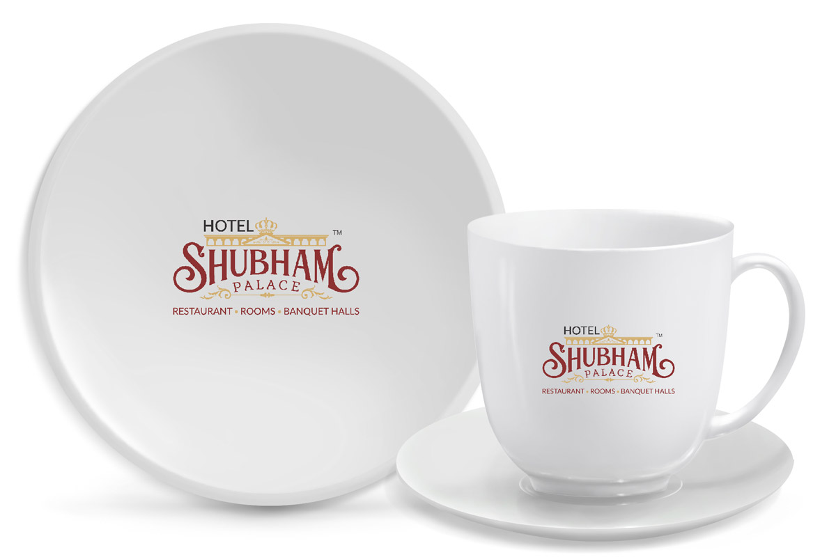 creative award winning logo designs hyderabad, hotel branding, restaurant branidng india, hotel shubham palce logo, professional branding in hyderabad