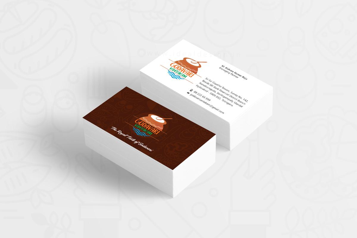 godavari-vantakam-business-cards-design,-logo-branding,-food-logo-branding,-hotel-&-restaurant-branding-bangalore