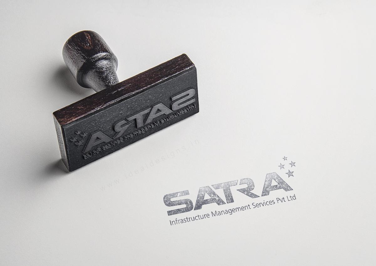 satra-infrastructure-management-services---logo-branding-hyderabad,-corporate-stationery-design-hyderabad,-creative-design-studio-hyderabad